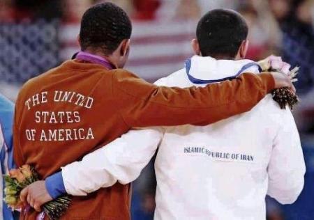 American & Iranian Embrace