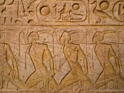 hieroglyphics of slaves in Abu Simbel