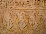 hieroglyphics of slaves in Abu Simbel