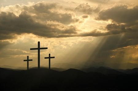 Three Crosses & Rays of Light