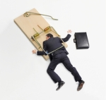 Businessman Trapped on Mousetrap