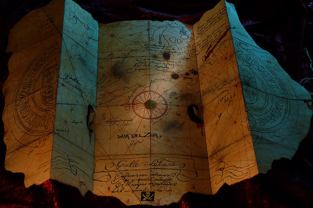 Goonies Treasure Map by Scott Howard