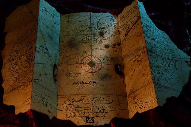 Goonies Treasure Map by Scott Howard
