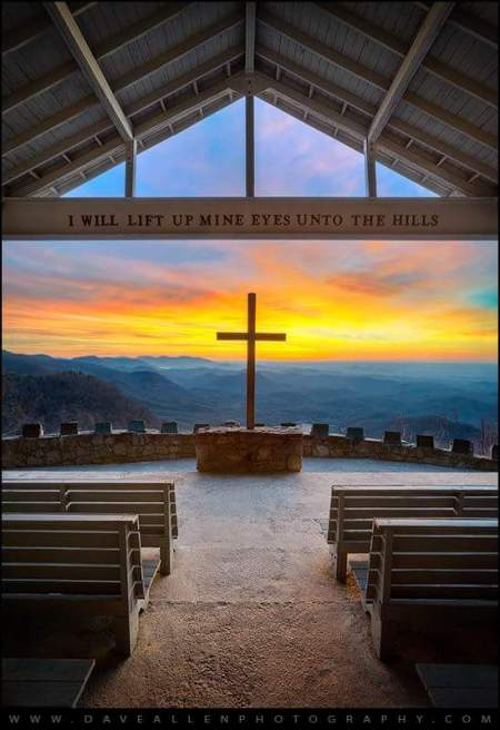 Symmes Chapel in the Blue Ridge Mountains, SC