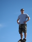 Man Standing on Pinnacle