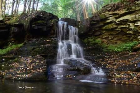 Dry Run Falls Sullivan County PA by Chris Fraley