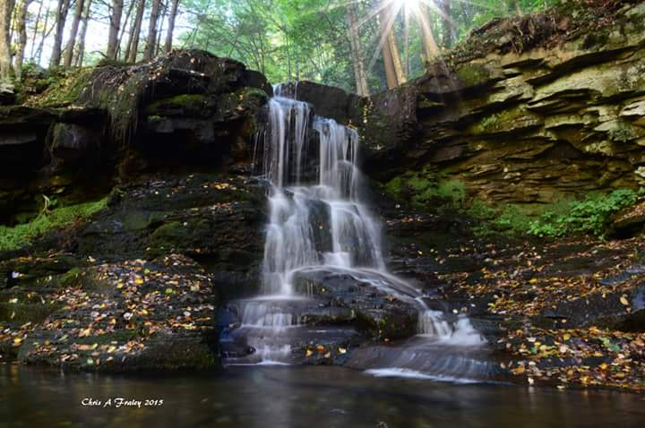 Dry Run Falls Sullivan County PA by Chris Fraley